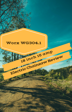 Worx wg3041 18 inch 15 amp electric chainsaw review sawedfish with its 18 inch bar and chain this saw can cut through small and medium sized logs with ease it will make short work of 12 diameter wood and many users greentooth Choice Image