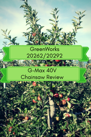 GreenWorks 20292 & 20262 G-Max 40V Chainsaw Review