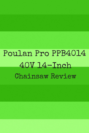 Poulan Pro PPB4014 40V 14-inch Chainsaw Review