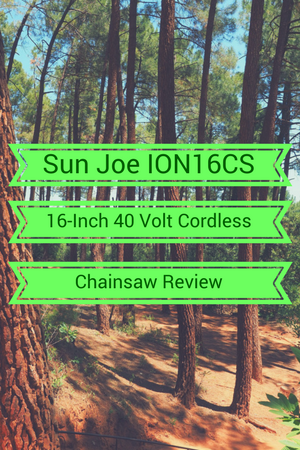 Sun Joe ION16CS 40-Volt Cordless Chainsaw Review
