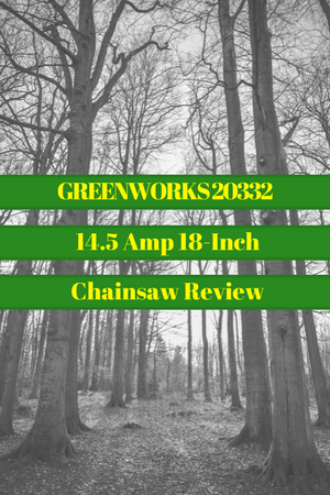 GreenWorks 20332 14.5 Amp 18-Inch Corded Chainsaw Review